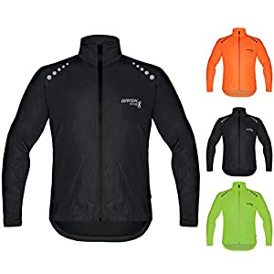 Brisk Bike all weather waterproof rain jacket for cycling training bicycling