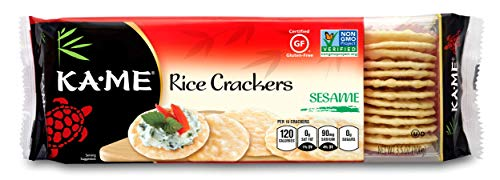 Kame Sesame Crackers - Ka-Me Gluten Free Rice Crackers, Sesame, 3.5 Ounce (Pack of 12)