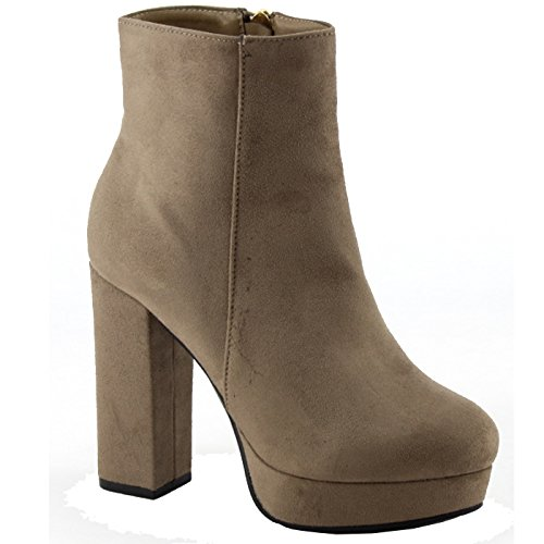 Suede 01 Gordon Nature Ankle Womens Breeze Heel Bootie Taupe 86qwpUqnx