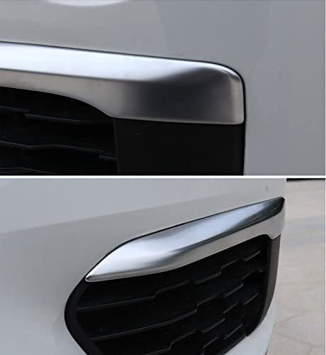 Fit for BMW X1 F48 2016 2017 2018 2019 Front Fog Light Lamp Eyelid Cover Trims ABS Matte Kate Wenzhou automobile supplies factory