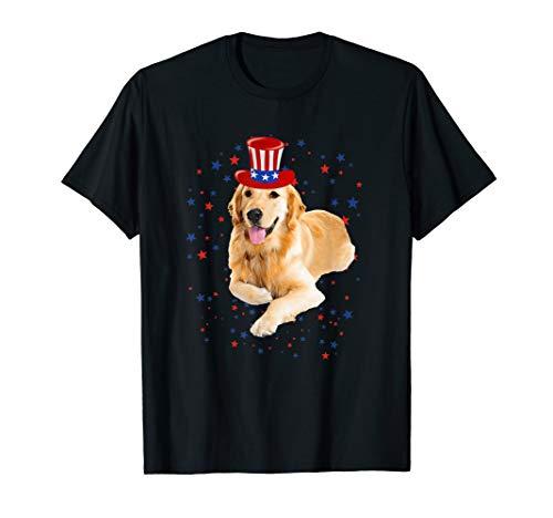 Patriotic Golden retriever 4th July Shirt, USA Flag, 4th jul