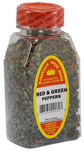 Green Peppers Sweet - RED & GREEN SWEET BELL PEPPER FLAKES FRESHLY PACKED IN LARGE JARS, spices, herbs, seasonings