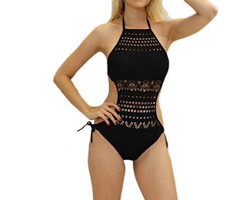 Mujer Tankini Bikini Sujetador ba Verano elegante push 11 up pieza de Negro acolchado 1 Traje o Akaayuko dTAXgxg