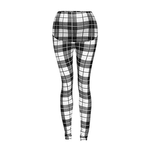 - J-paty Women's Maternity Comfort Leggings, Plaid Print Full Ankle Length Stretch Leggings Pregnancy Trousers Plus Size White