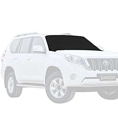 DanziX Car Windshield Snow Ice Cover, Sunshade Protector with Magnetic Edges Waterproof Windproof Dustproof Fits for Most Car SUV Truck Van + Free Silicone Water Wiper