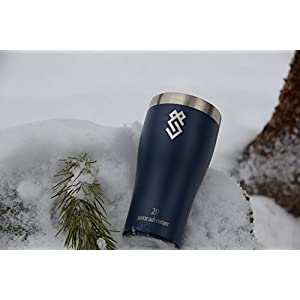 Summit Outdoor 20 oz Double Walled Vacuum Insulated Stainless Steel Travel Tumbler with BPA Free Lid, Use as a Coffee Mug, Pilsner Beer Glass, Iced Tea or Water Cup, For Men or Women, Dishwasher Safe