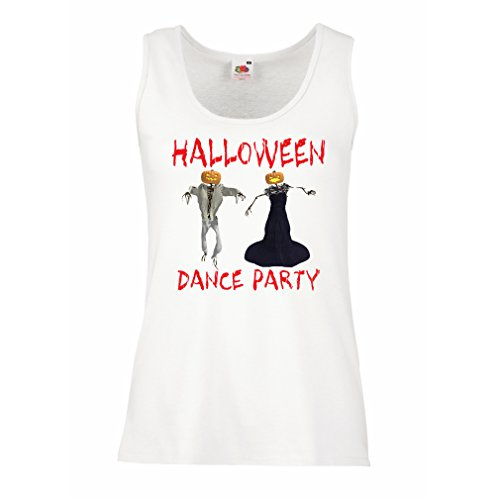 Sleeveless t shirts for women Cool Outfits Halloween dance party events costume ideas (XX-Large White Multi Color) (White Van Halloween Costume)