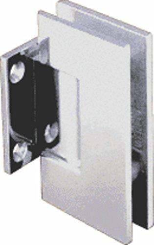 CRL Geneva Series Satin Chrome Wall Mount Short Back Plate Hinge (5 Degree Pre-Set Model)