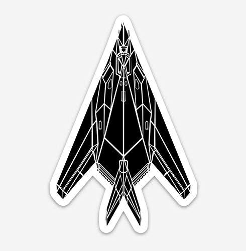 F-117 Nighthawk Fighter Jet Vinyl Sticker Illustration BellavanceInk