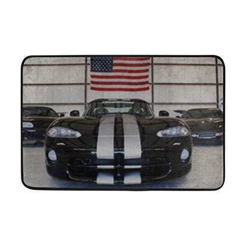 ANT88 Dodge Viper Sports Car Front View Doormat Indoor Outdoor Entrance Floor Mat Bathroom 23.6 X 15.7 Inch ()