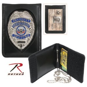 Rothco Leather Neck Identification Badge Holder (Neck Badge Holder)