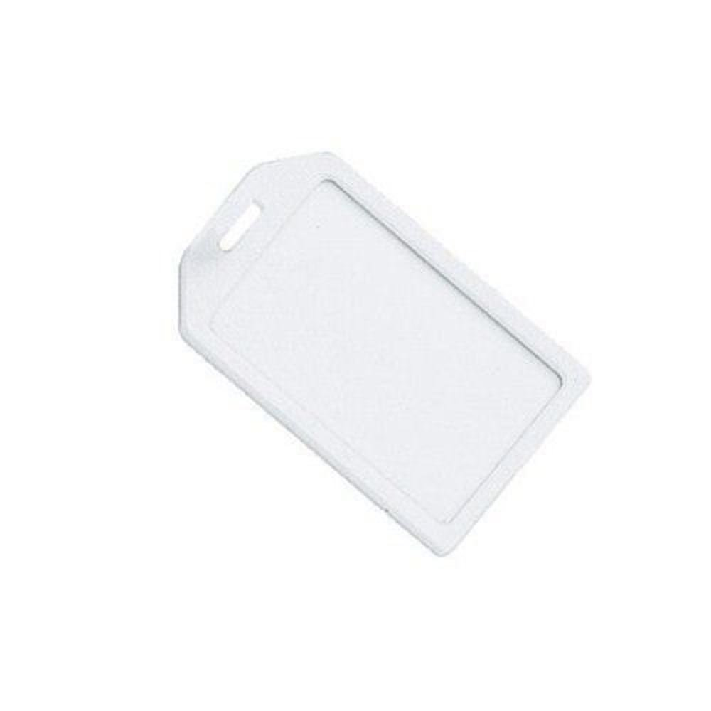 MyBinding.com Frost Rigid Plastic Heavy Duty Luggage Tag Holders - 100pk Frost