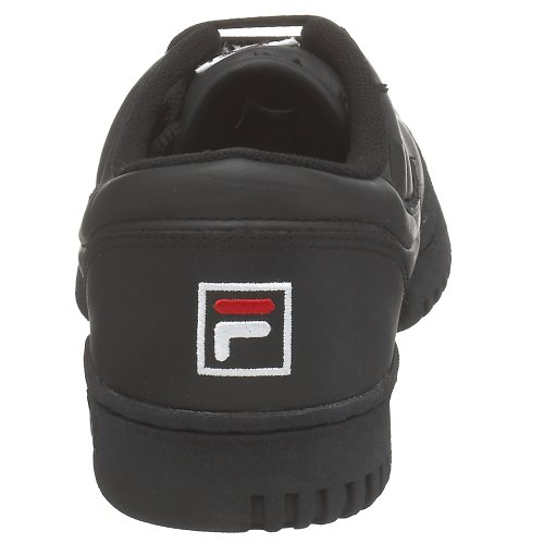 Fila Heren Originele Fitness Lea Klassieke Sneaker Zwart / Wit / Rood