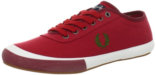 Fred Perry Men's Woodford Canvas Coloured, Blood, 12 UK/13 M US