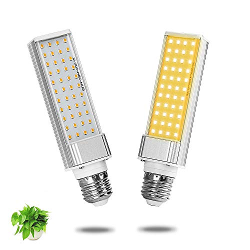LED Grow Light Replacement Bulbs with E26 Base, 5V 45W Full Spectrum LED Plant Light for Indoor Plants, Dimmable Grow Lamp for Vegetables and Seedlings Growing Blooming Fruiting, 2PCS ()
