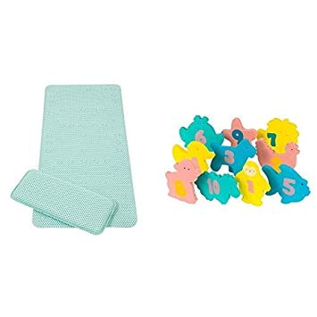 Polka Dots Clevamama Baby Bath Mat /& Knee Cushion Non Slip Childrens Mat with Suction Pads