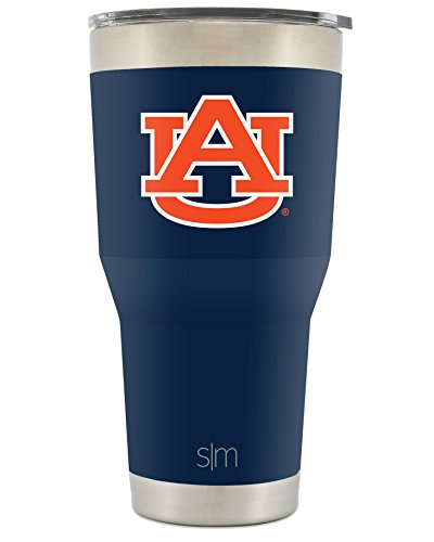 Auburn Tigers Cups - Simple Modern Auburn University 30oz Cruiser Tumbler - Vacuum Insulated Stainless Steel Travel Mug - UA Tigers War Eagle Tailgating Hydro Cup College Flask