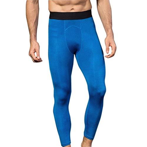 ADELINA Pantalones De Running para Hombres, Mitlfuny Chándal De Slim Pantalones Ropa con Estampado En 3D para Hombre De Siete Minutos Blau