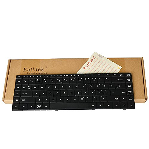 Eathtek Replacement Keyboard for 15.6 HP Compaq 620 621 625 CQ620 CQ621 CQ625 Series Black US Layout, AEAX6U00110 599602-001 606129-001 V115326AS1 605814-001 (Notes: Not fit for CQ320 Laptop!!)