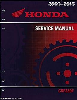 61kps09 2003 2014 honda crf230f motorcycle service manual amazon rh amazon com 2017 Honda CRF 230 honda crf230f repair manual