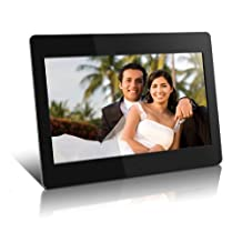 High Resolution 14 inch Digital Photo Frame w/512MB Built-in Memory and Remote (1366 x 768) ADMPF114F by Aluratek