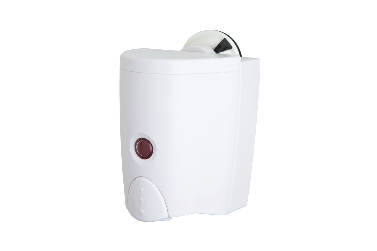 FECA FE-B4017 No Drilling Soap Sanitizer Dispenser with Powerful Suction Cup, White