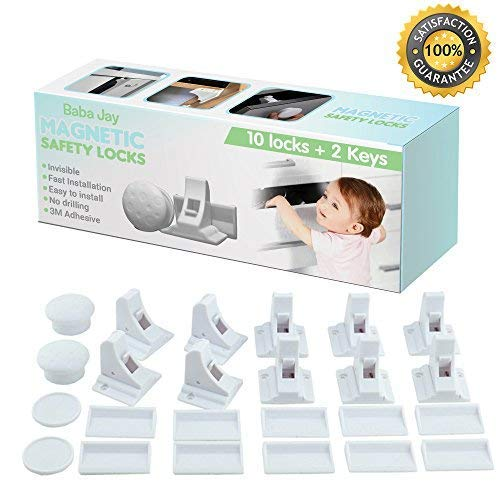 New Design Install in Minutes No Drilling Needed Baby Proofing Your Cupboards /& Drawers With The Safetyeffect Invisible Adhesive Lock Magnetic Child Safety Cabinet Locks 4 Locks 2 Keys
