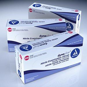 Dynarex Nitrile Exam Glove (non-latex) Powder Free (economy) - Sm, Blue 10/200/Cs
