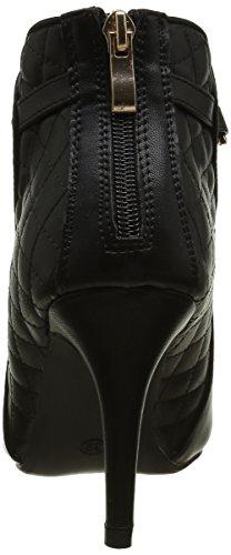 Schwarz Stiefel zu dünnen Heels 9 cm wies endet und dekorativer Kette