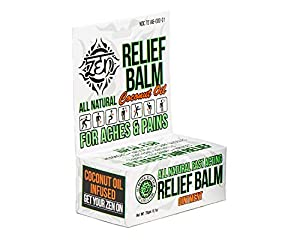 Zen Relief Balm 0.7 Ounces Chemical Free, Natural for Pain Relief