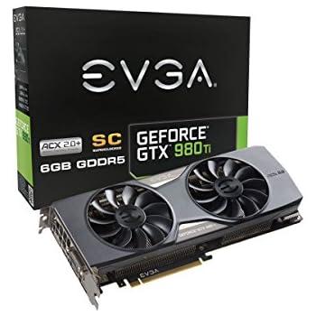 EVGA GeForce GTX 980 Ti 6GB SC GAMING ACX 2.0+, Whisper Silent Cooling Graphics Card 06G-P4-4993-KR