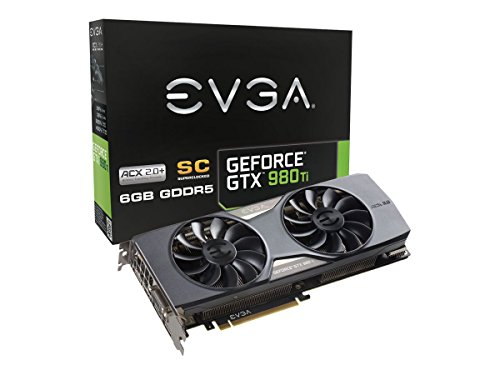 EVGA GeForce GTX 980 Ti 6GB SC GAMING ACX 2.0+, Whisper Silent Cooling Graphics Card 06G-P4-4993-KR