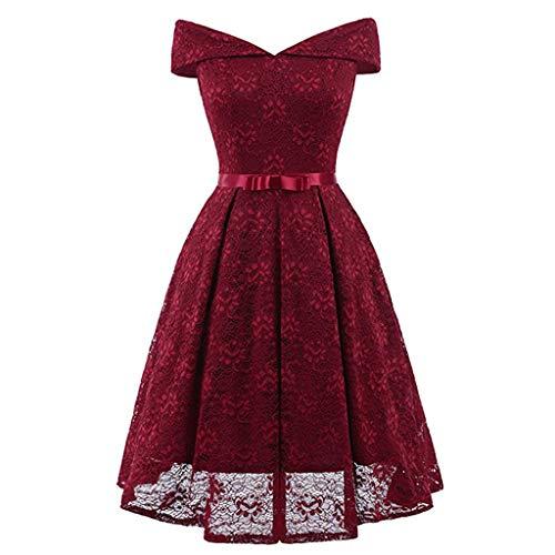 Tamaño Encaje Vestido Burgundy Especial Xl Ocasión Mujeres Mujer Cóctel Las Fiesta Ailin De Home color Pink AwxtqTO