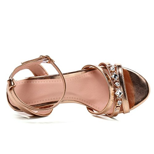 Sandals Coolcept Heel Strap Ankle Women Gold Fashion wppfRBq