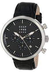 CCCP Men's CP-7007-02 Kashalot Analog Display Japanese Quartz Black Watch