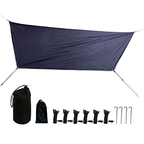 YUEBAOBEI Tent,210T Waterproof Polyester Spinning 800G Lightweight Hammock Rain Fly Tent Tarp Camping Sunshade Tent Lightweight Mat Mat Floor Mat