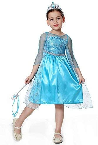 Pretty Princess Disfraces Princesa niña Reina de la Nieve Themed ...