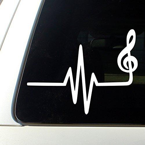 Music heart beat Sticker Bumper Decal Car