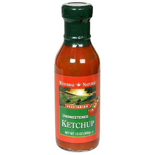 Westbrae Natural Unsweetened Ketchup, 13 Ounce (Pack of 12)