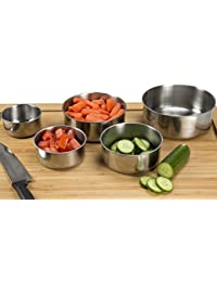 Investment Chef Buddy 5 Piece Stainless Steel Bowl Set with Lids, Silver lowestprice