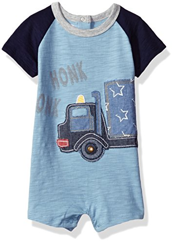 Mud Pie Baby Boys' Shortall One Piece, Honk Truck, 6-9 Months