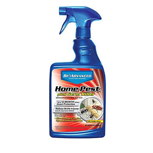 (BioAdvanced 700460A Science-Based Solutions Indoor & Outdoor Insect Killer Home Cleaner & Sanitizer, 24-Ounce )