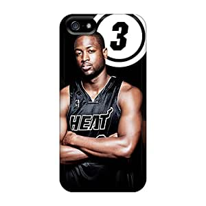 Tpu Case Cover For Iphone 5/5s Strong Protect Case - Miami Heat Design