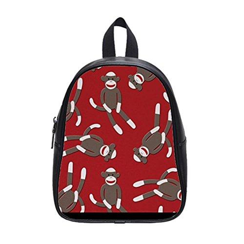 LiFei Business Red Sock Monkey Custom School Bag(Large)