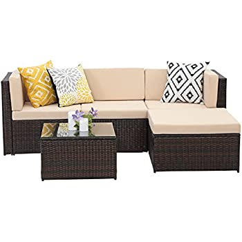 amazon com wisteria lane outdoor patio furniture set 5 pcs