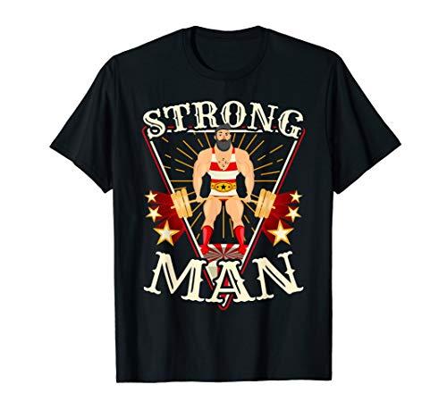Deadlift Shirt - Vintage Circus Strongman Costume
