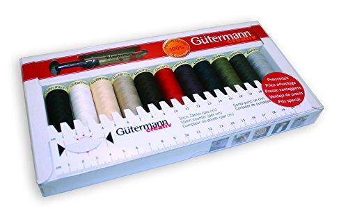 Gutermann 734578 Nähgarn, Polyester, 31 x 7.5 x 27.3 cm, Mehrfarbig