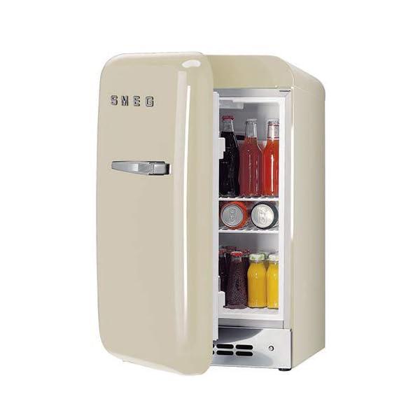 Smeg 50 S Retro Style Mini Refrigerator, Black, Right Hand Hinge 5