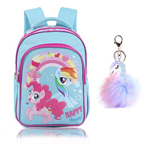 SEDEX Unicorn School Backpacks for Girls Kids Toddler School Bags Waterproof Travel Canvas for Preschool with Free Keychain