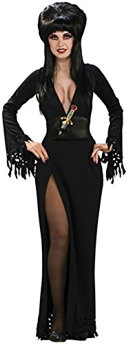 [Rubies Womens Sexy Elvira Grand Heritage Vampire Adult Halloween Costume, M (10-14)] (Halloween Costumes Elvira)